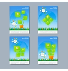 Modern set of brochures in the infographics vector image