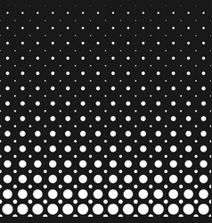 monochrome geometrical halftone dot pattern vector image