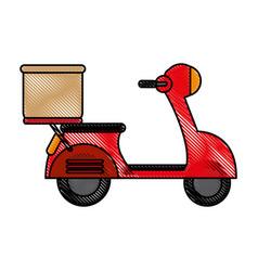 Motorcycle flat scribble vector
