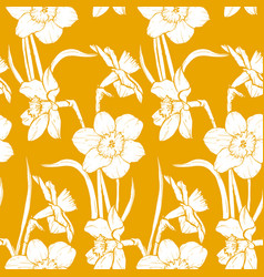 Narsisus bouquet seamles pattern vector