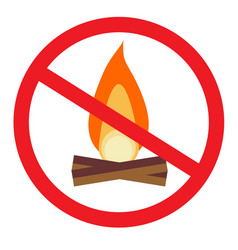 no open flame sign vector image