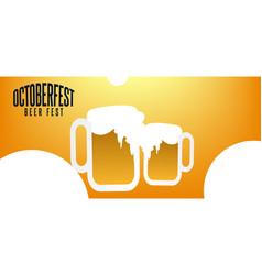 October beer festival background design vector