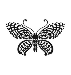 ornate butterfly for your design vector image