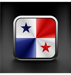 Panamaflag national travel icon country symbol vector image