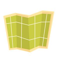 paper map cartoon vector image
