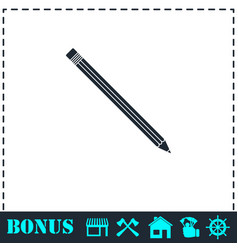 pencil icon flat vector image