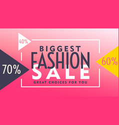 pink voucher design for fashion sale vector image