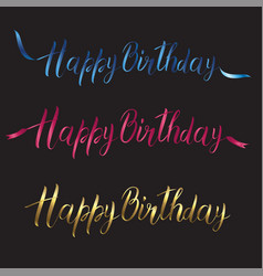postcard with the inscription happy birthday in vector image