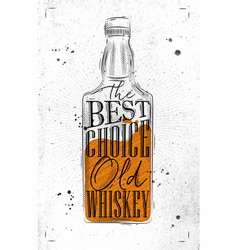 poster whiskey best choice paper vector image