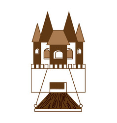 Princess castle icon vector