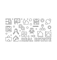 Real estate outline or banner vector