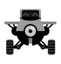 Robot plane toy funny vector