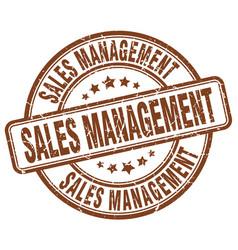 sales management brown grunge stamp vector image