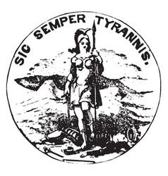 Seal commonwealth virginia 1904 vintage vector