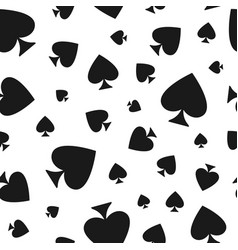Seamless pattern with spades casino gambling vector