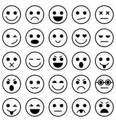 set emoticons set emoji vector image
