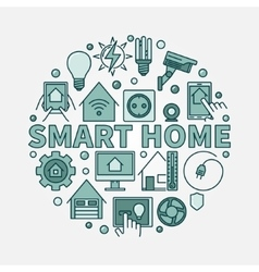 Smart home flat vector image