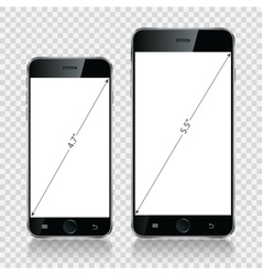 Smartphone mobile phone isolated realistic vector