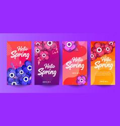 spring social media frames for social networks vector image