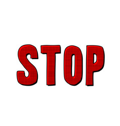 stop word text vector image
