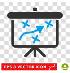 Strategy Way Board Eps Icon vector