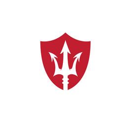 Trident logo template icon vector