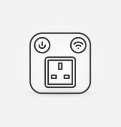 uk smart socket outline concept icon or vector image
