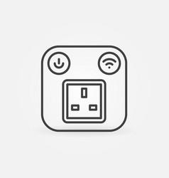 Uk smart socket outline concept icon vector