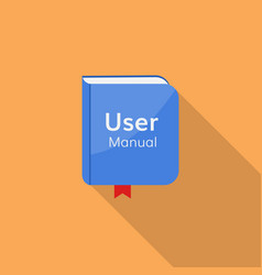 User guide manual icon vector