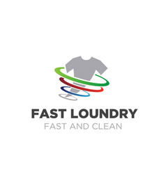 Wash logo designs for laundry service fast vector