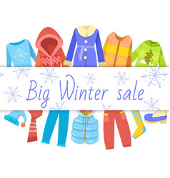 Winter sale clothing banner vector