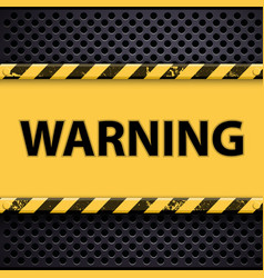 Word of warning on a metal background vector
