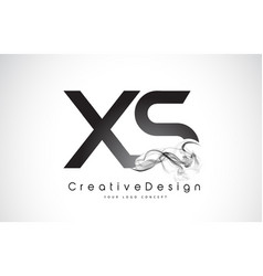 Xs letter logo design with black smoke vector