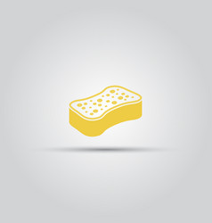 yellow sponge isolated icon vector image