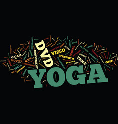yoga dvds text background word cloud concept vector image