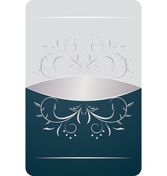 beautiful luxury card or invitation vector image