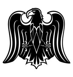 Black silhouette of eagle vector