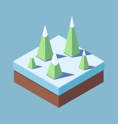 concept of a christmas tree in winter vector image