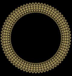 floral modern round frame vector image