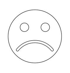 Sad emoticon black color icon vector