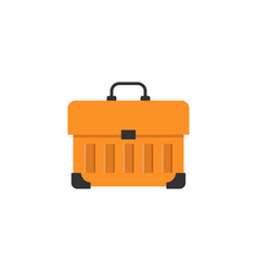 Tool box flat icon build repair elements vector