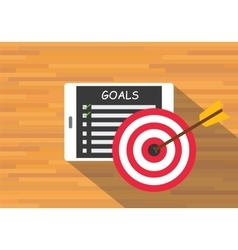 achieve goal by checklist vector image vector image