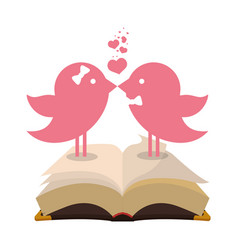 bird couple married bible card vector image vector image