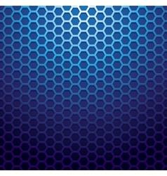 Blue metallic grid background vector image