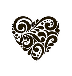heart with beautiful patterns vector image