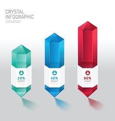 Modern infographics design crystal options banner vector image vector image