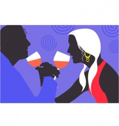partying couple vector image vector image