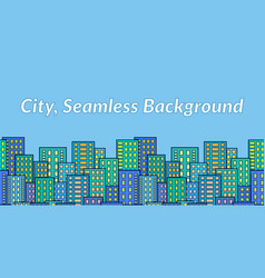 seamless city landscape vector image