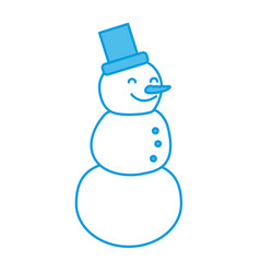 snowman winter cartoon vector image vector image