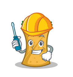 Automotive kebab wrap character cartoon vector